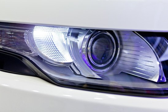 Detail of a beauty and fast car with headlight